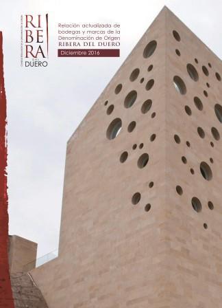 Portada Relación de Bodegas y Marcas D.O. Ribera del Duero - Diciembre 2016